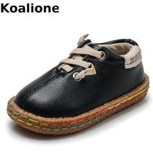 Детская обувь для мальчиков и девочек; кожаная обувь; винтажные оксфорды; черные детские повседневные лоферы; мокасины; мягкая обувь для малышей; подошва на плоской подошве