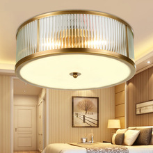 QUKAU copper ceiling lamp E27 4 bulbs diameter 45cm brazing lighting entrance aisle balcony hall corridor hanging
