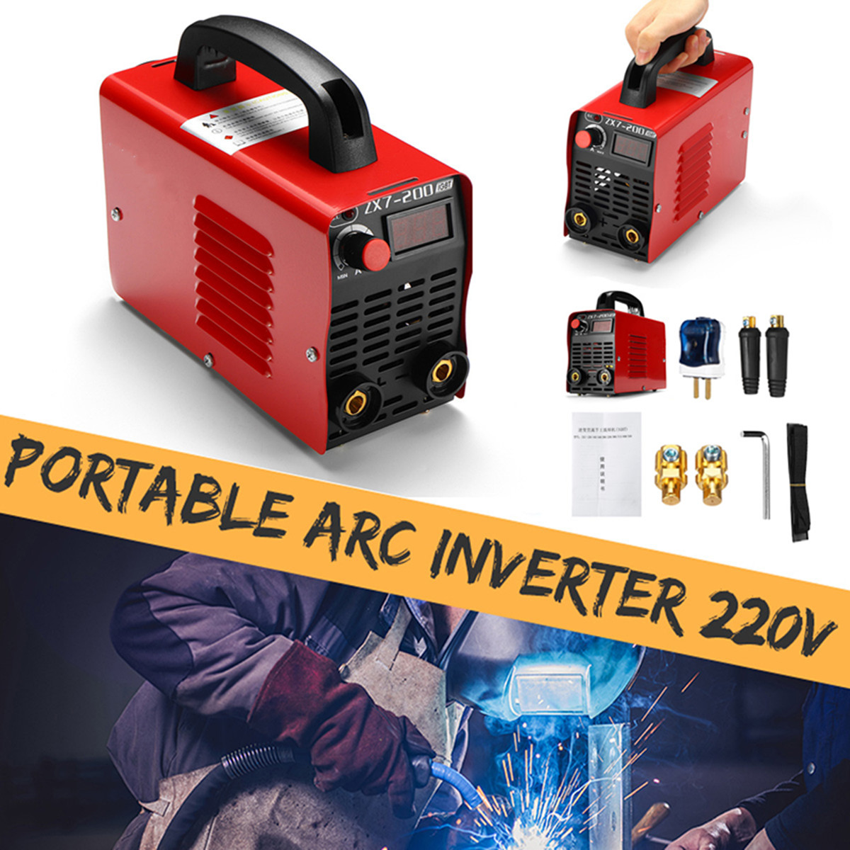 10-200A 4000W Handheld Mini MMA IGBT Inverter 220V Mini Electric ARC Welding Welder Inverter Machine Tool цена