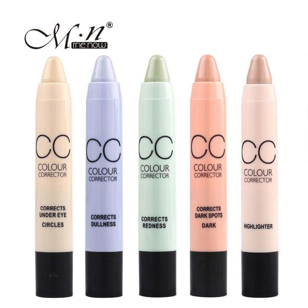 Colour care foundation - Menow Brand Cc Colour Corretivo Stick Face Makeup Foundation Concealer Pen Pencil 6 Colors For Circle