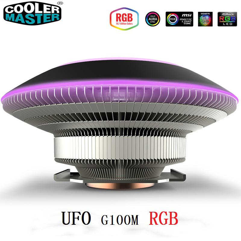 Cooler Master G100M CPU saucer cooler for Intel 775 115X 2011 2066 AMD AM4 AM3 CPU radiator 10cm 4pin RGB UFO cooling PC quiet