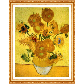 DIY 5D Diamond Van Gogh Sunflowers Diamond Painting Cross Stitch Kit Diamonds Embroidery Drill Home