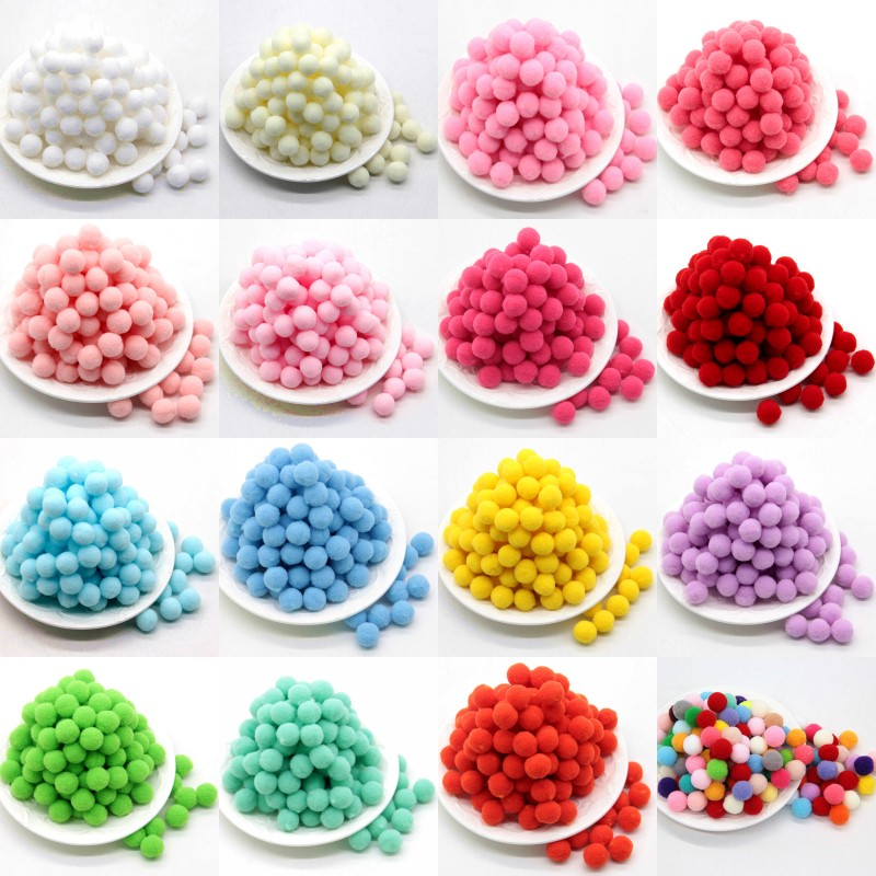 100Pcs 10/15/20/25mm Mini Fluffy Soft Pom Poms Pompoms Ball Handmade Kids Toys Wedding Christmas Decor DIY Sewing Craft Supplies(China)