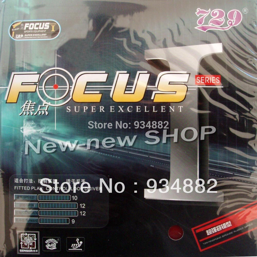 729 FOCUS I FOCUS 1 FOCUS-1 Pips-In Table Tennis PingPong Rubber With Sponge