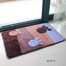 Милый коврик с принтом ног для украшения спальни ванной износостойкий