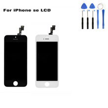 Grade AAA Screen LCD for iPhone SE Display LCD Touch Screen Replacement Digitizer Assembly Highscreen Display Black White Colors цена