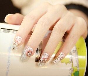 Image 4 - Autocollants décoratifs 3D pour ongles, 1 feuille, autocollants, dentelle blanche, sur les ongles, pissenlits, décorations de manucure, Z005
