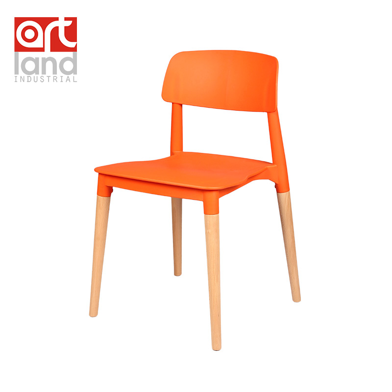 Plastic Chair With Beech Wood Legs Dining Chair Leisure
