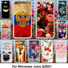 Phones Telecommunications - Mobile Phone Accessories  - AKABEILA Silicone Cover Case For Micromax Juice Q3551 Case Flexible TPU Back Cover For Micromax Q3551 Cases Painted Phone Shell
