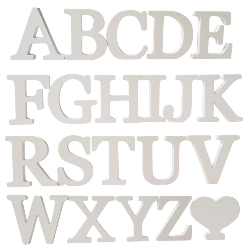 Us 045 50 Offnowy Diy Naklejki List 3d Angielski ślub Miłość Litery Dekoracyjne Drewniane Litery Alfabetu Prezent ślubny Dekoracje ścienne W