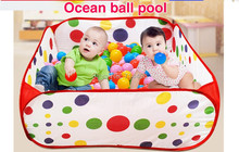 Square ocean ball pool play tent children's game house fun sports indoor&outdoor, Portable Folding baby educational toys