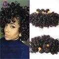 O mais baixo Preço Brasileiro Curly Virgem Cabelo Weave Bundles Jerry Onda Espiral 3 pcs Preto Natural Extensão Do Cabelo Humano Remy MTBC19