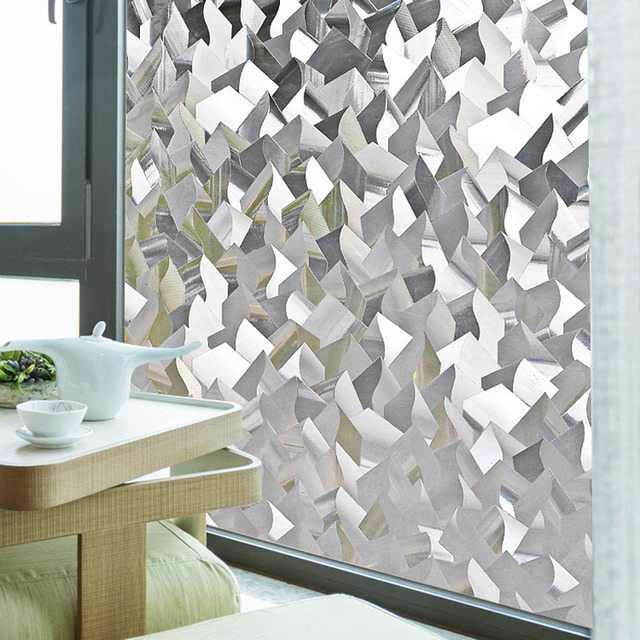 45*200CM Ice Crystal Pattern Sunscreen Translucent Opaque Windows Bathroom  Glass Stickers Cellophane Sliding Door