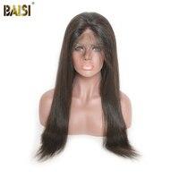 Байси бразильских волос парики прямо полный шнурок парики 130% плотность Волосы remy с предварительно сорвал натуральных волос