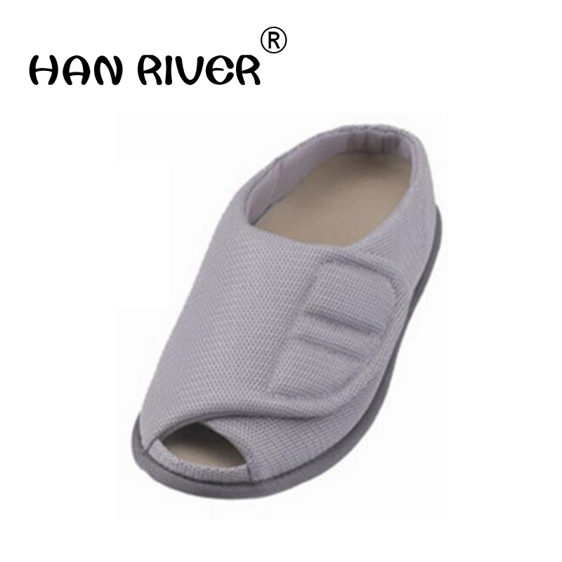 Fully open mouth of elderly people s big feet bone puffy multi functional health care shoes