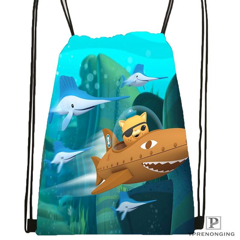 Custom The Octonauts Octopod Drawstring Backpack Bag Cute Daypack Kids Satchel Black Back 31x40cm 180531 04