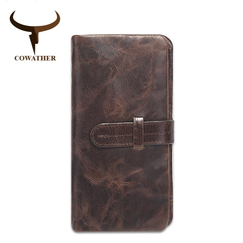 COWATHER 2018 Нова модна корова натуральна - Гаманці та портмоне