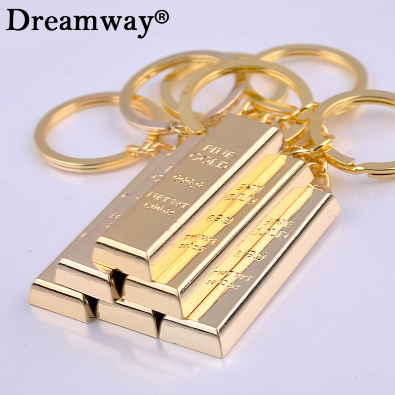 Pure gold key chain golden keychains keyrings women handbag charms pendant metal key finder luxury man car key rings accessory punk style solid color hollow out ring for women