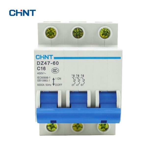 chint dz47 60 c16 ac230 400v 3p 16a rated current 3 pole miniature