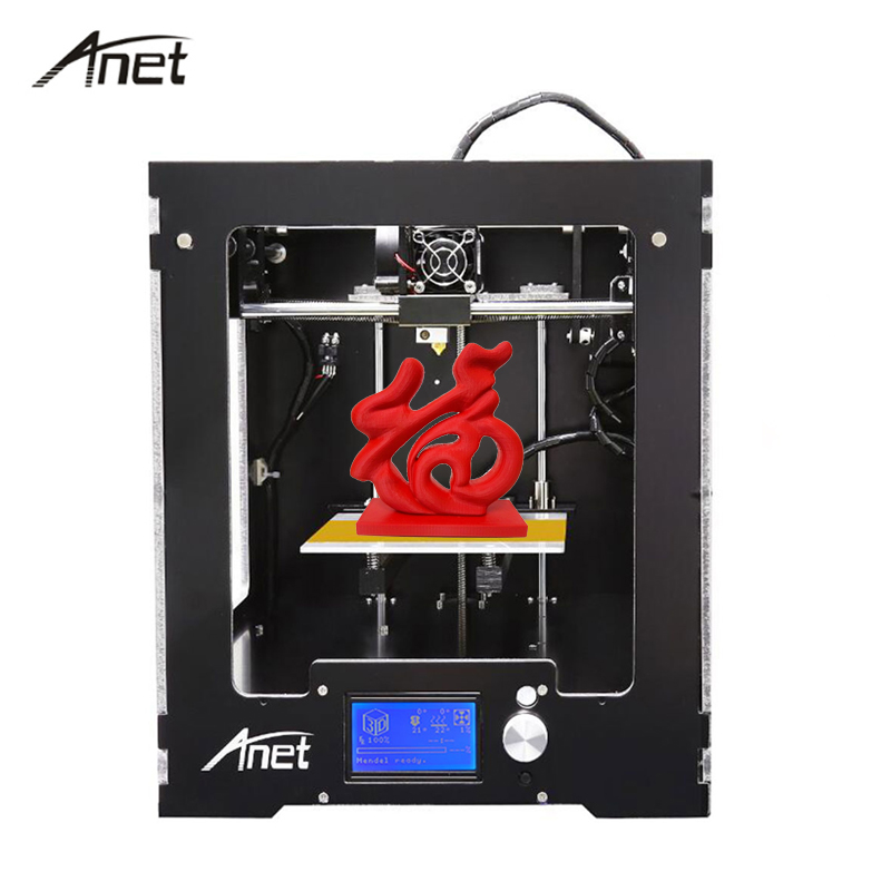 Anet A3 Full Assembled i3  impresora 3d Printer Aluminum-Arcylic Frame DIY  imprimante 3d printers Kit Large printing size new anet e10 e12 3d printer diy kit aluminum frame multi language large printing size high precision reprap i3 with filament