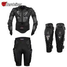 Herobiker Мотоциклов Body Armor Защитная Куртка + Передач Шорты Hip Protector + защитный Мотоциклов Наколенники Наборы Костюмы