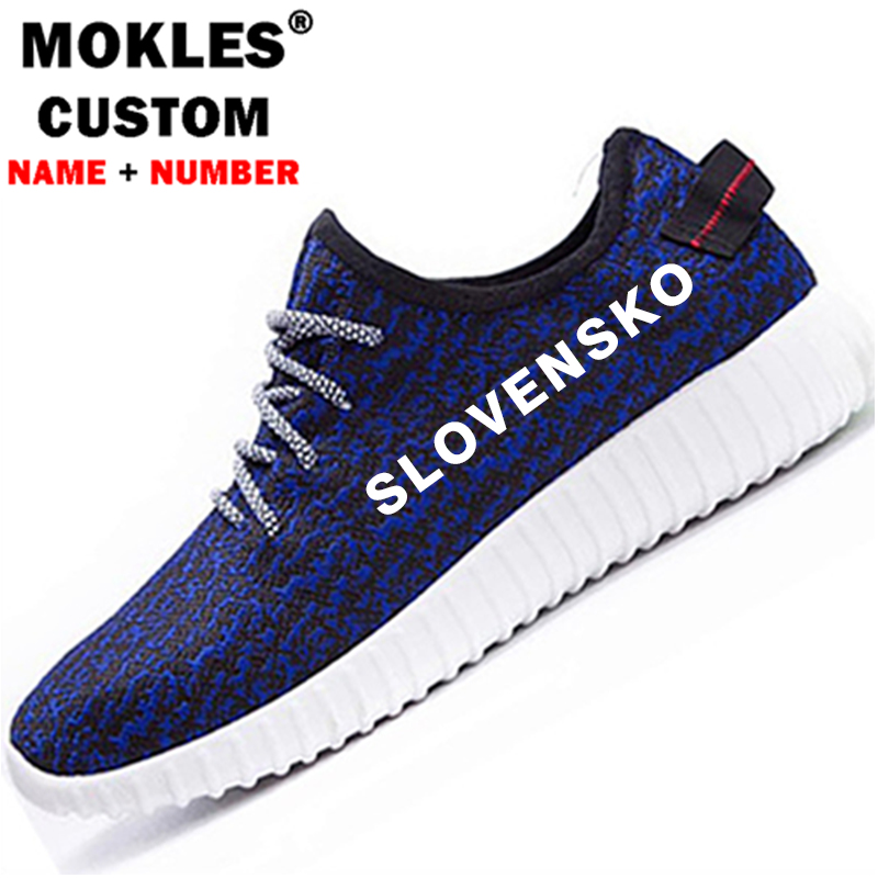 SLOVAKIA male custom name number svk couple shoes nation flag slovensko country slovak republic college print diy youth student boston college eagles bc university college house flag