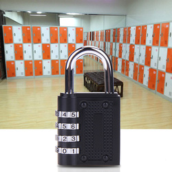 Code Lock Heavy Duty 4 Dial-stellige Kombination Schloss Wetter Sicherheit Vorhängeschloss Outdoor Gym Sicher Vorhängeschloss für Schrank Schrank