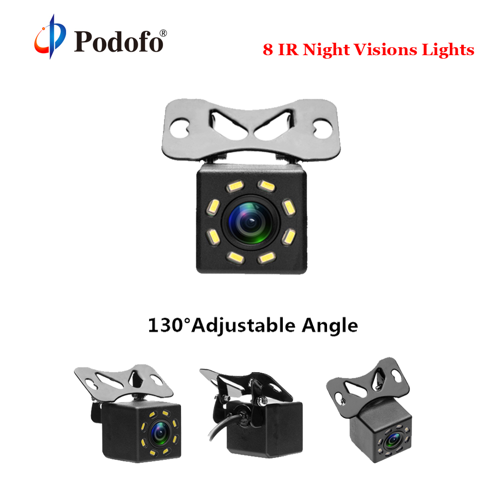 Podofo Car Rear View Camera Universal Backup Reverse Parking Camera 8 IR Night Vision Waterproof 170 Wide Angle HD Color Image