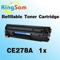 1x recarregáveis caritridge toner p1560 ce278a 278 278a 78a para hp laserjet pro 1566 1600 1606dn m1536dnf impressora