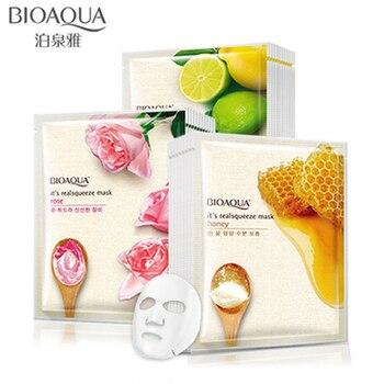BIOAQUA Mask Honey Rose Lemon Facial Mask Shrink Pores Moisturizing Whitening Oil-control Face Mask Skin Care Facial mask