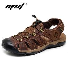 2017 Classics summer sandals men quality cow leather men sandals comfort plus size sandal men summer shoes roegre 2017 men
