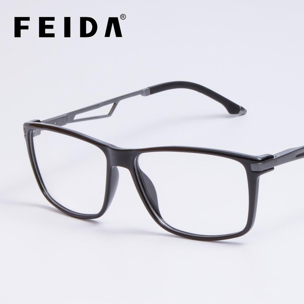 Vintage Square Titanium Eyeglasses Frames Mens Clear Glasses With Transparent Lens TR90 Spectacle Frames Optical Glasses Frame