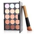 1set Professional Cosmetic 15 Colors contour Palette Face Cream Makeup Concealer Palette Set Tools Powder Brush Drop Shipping
