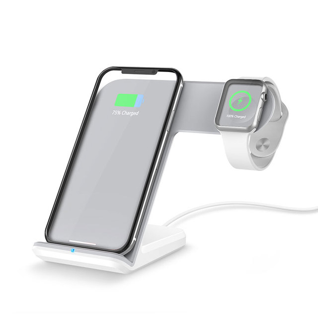 Ascromy Wireless Fast Charger Pad Stand for Apple Watch 3