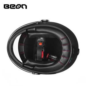 Image 5 - Casque BEON, moto de moto, casque complet en Fiber de verre, casque professionnel rétro ultraléger ECE, B 510