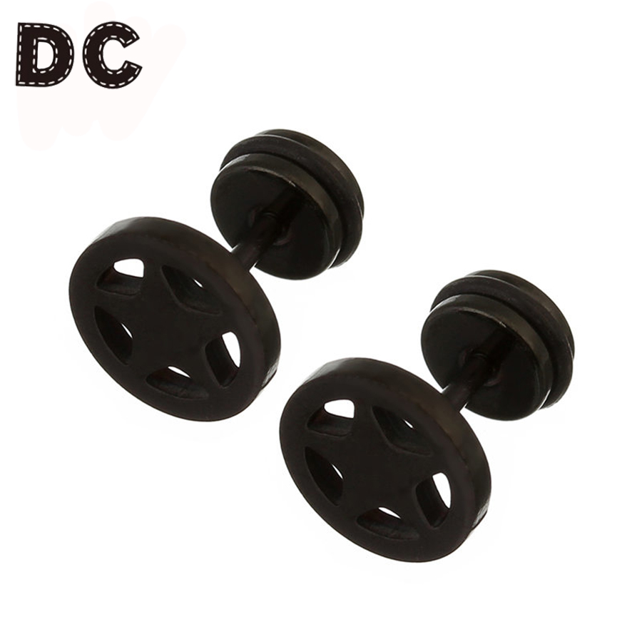 Dc 3pair Opp Stainless Steel Black Gold Color Hollow