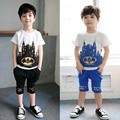 children's clothing suits batman kids T-shirts and shorts 2colors batman children boy summer style set  YAZ077F