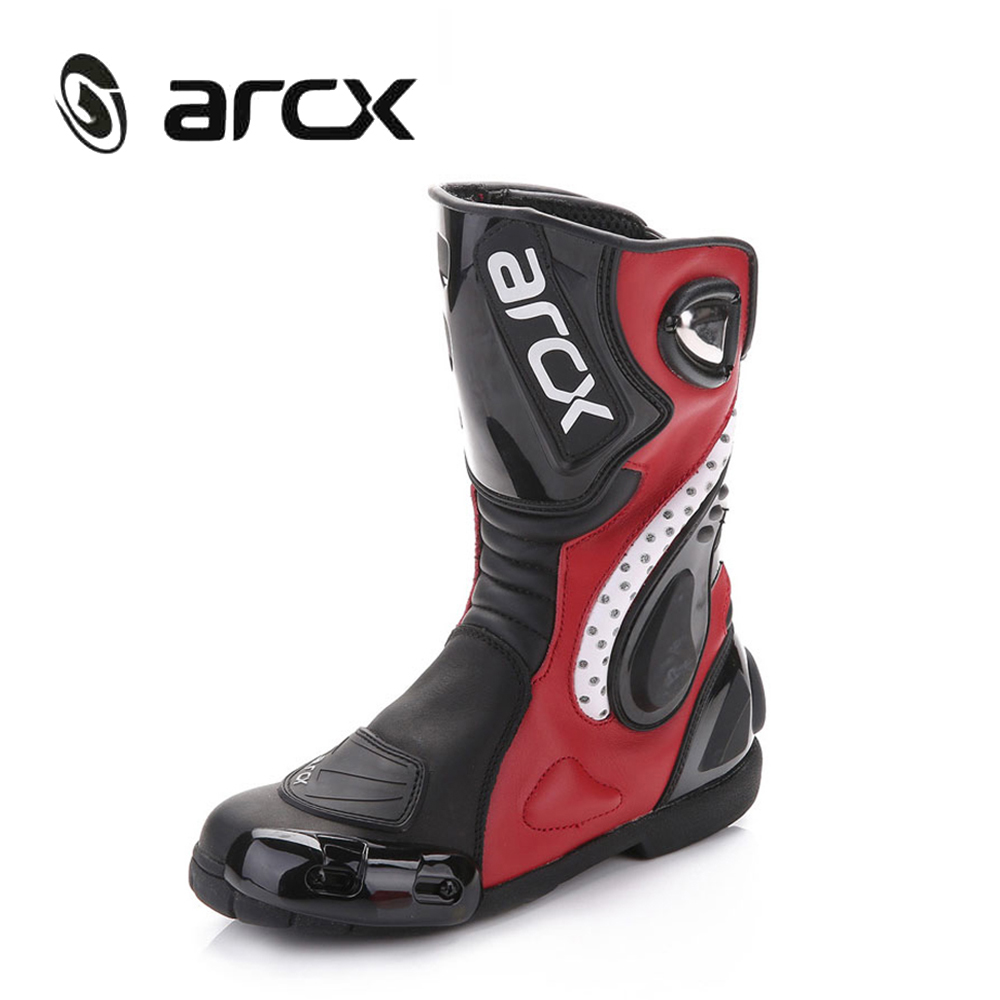 ARCX Motorcycle Boots Cow Leather Breathable Motocross Off-Road ATV Dirt Bike MX Biker Mid-Calf Racing Shoes L60150 ...