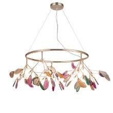 Postmodern creative agate living room dining bedroom lamps warm romantic LED Lustre  chandelier lighting Fixture