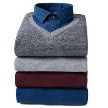 shirt Men Brand Mens pullover Shirts Male social Shirt Man sweatshirts fleece super warm thick 2 in winter Hoodies