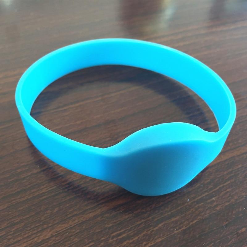 5PCS 13,56MHZ ISO14443A 1K modrý NFC Silikonový rfid náramek