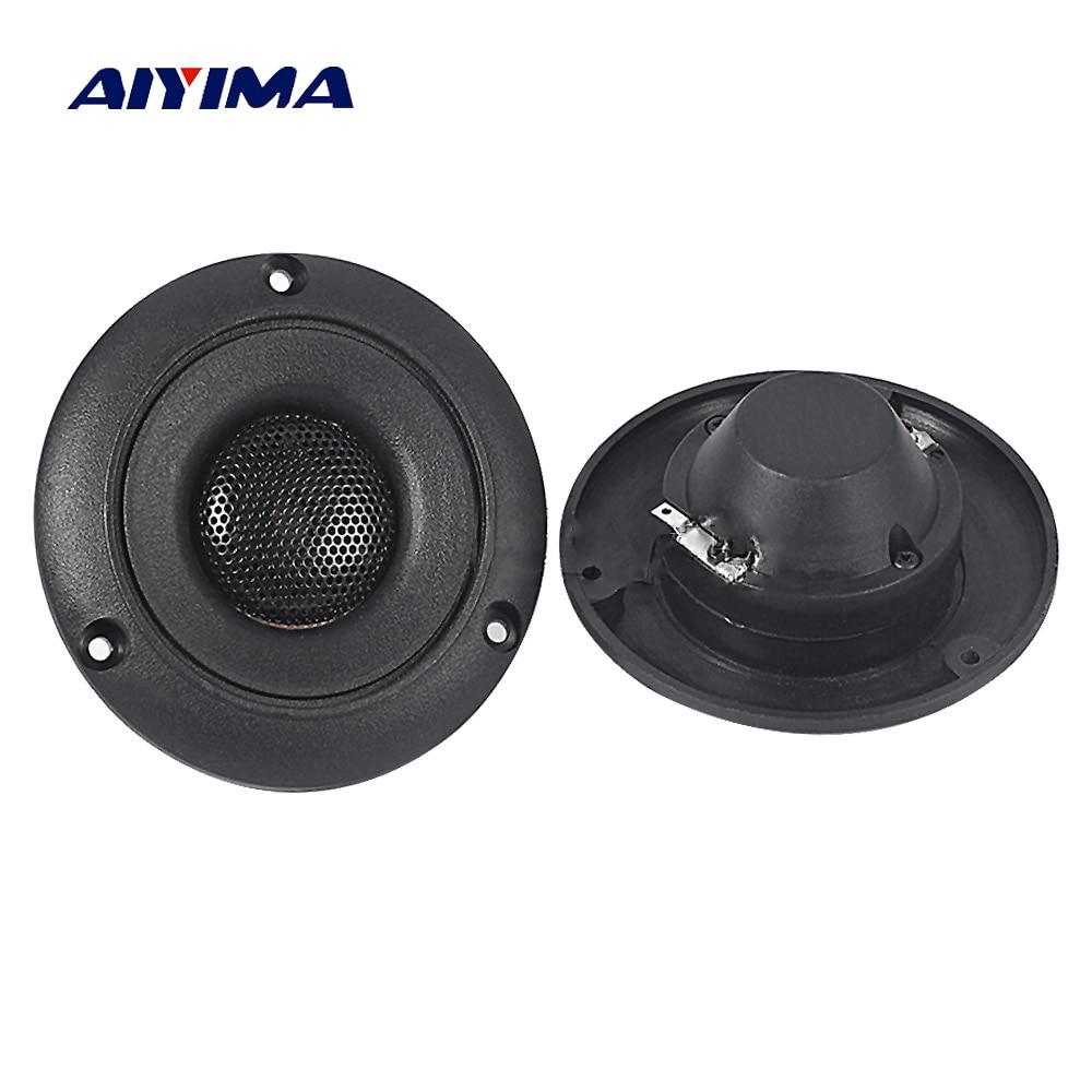 Aiyima 2PC 2.5Inch Piezo Tweeter 25W Ceramic Piezo Speaker Piezoelectric Audio Speaker Buzzer Round Treble DIY