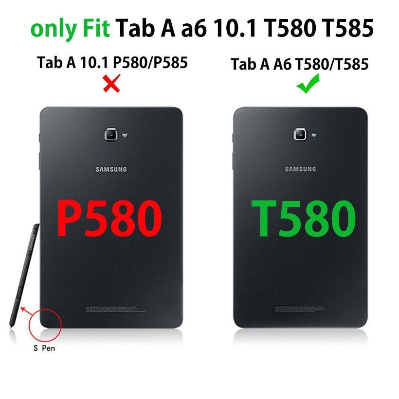 Funda de cuero de alta calidad para Samsung Galaxy Tab A A6 10.1 2016 - Accesorios para tablets - foto 2