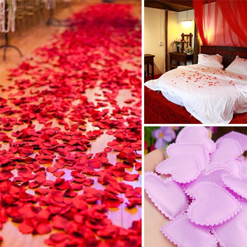 100pcs Bag Marriage Room Decoration Love Petal Hand Throwing Flowers  Simulation Bed Spread Wedding Supplies In