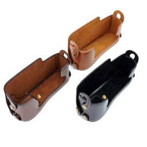 Image 2 - Camera Battery Openning PU Leather Case for Fujifilm Fuji X E1 X E2 XE1 XE2 Half Body Cover Hand Strap