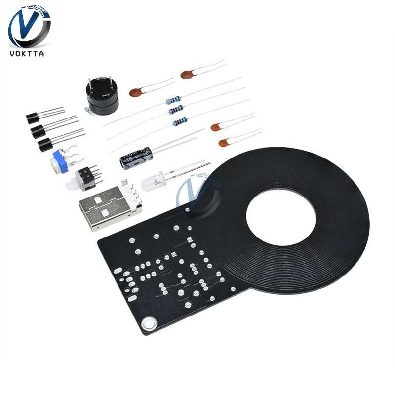 Kit détecteur de métaux DC 3 V-5 V 60mm Module de capteur sans contact détective avec 18650 USB batterie externe boîte Kit de bricolage détecteur de métaux