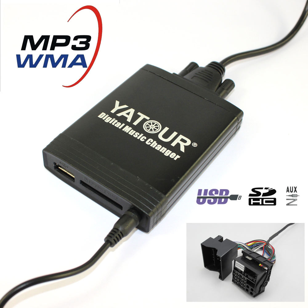 Yatour YT-M06 Digital Music Changer for New Ford (Europe 2003-2010) quadlock 6000CD 6006CD 5000C Car USB MP3 SD AUX adapter apps2car usb sd aux car mp3 music adapter car stereo radio digital music changer for volvo c70 1995 2005 [fits select oem radio]