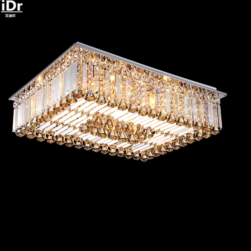 Wholesale Upscale Crystal Lamp Low Voltage SMD Square Living Room Lights Lamps Lighting Ceiling