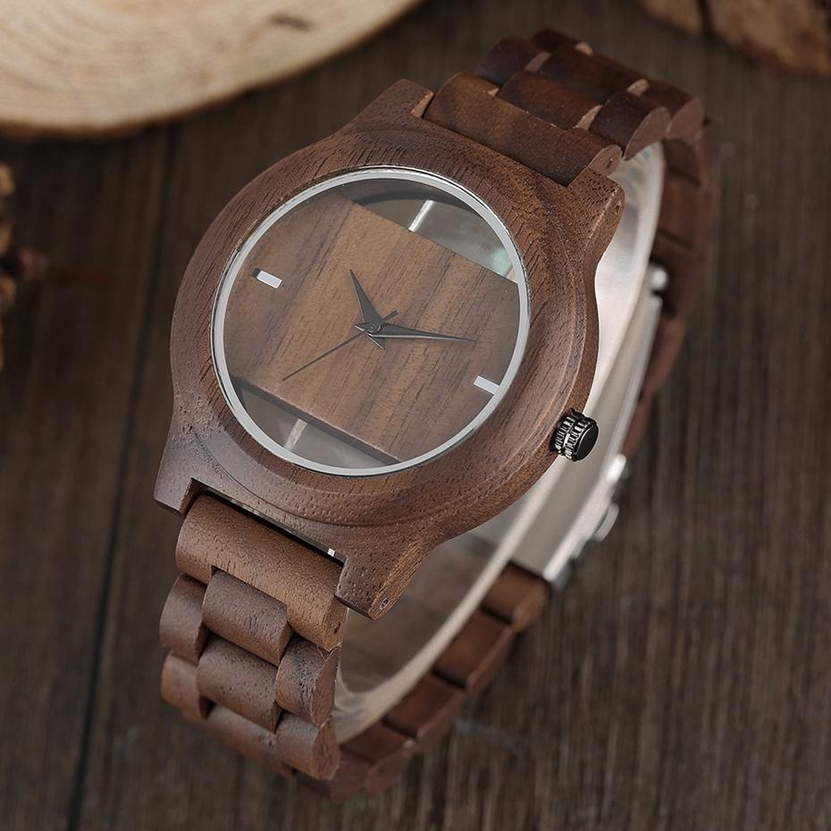 YISUYA Mens Women Natural Wood Watches Full Wooden Bamboo Wristwatch Fashion Hollow Dial Design Quartz Novel Handmade Clock Gift 2017 (6)