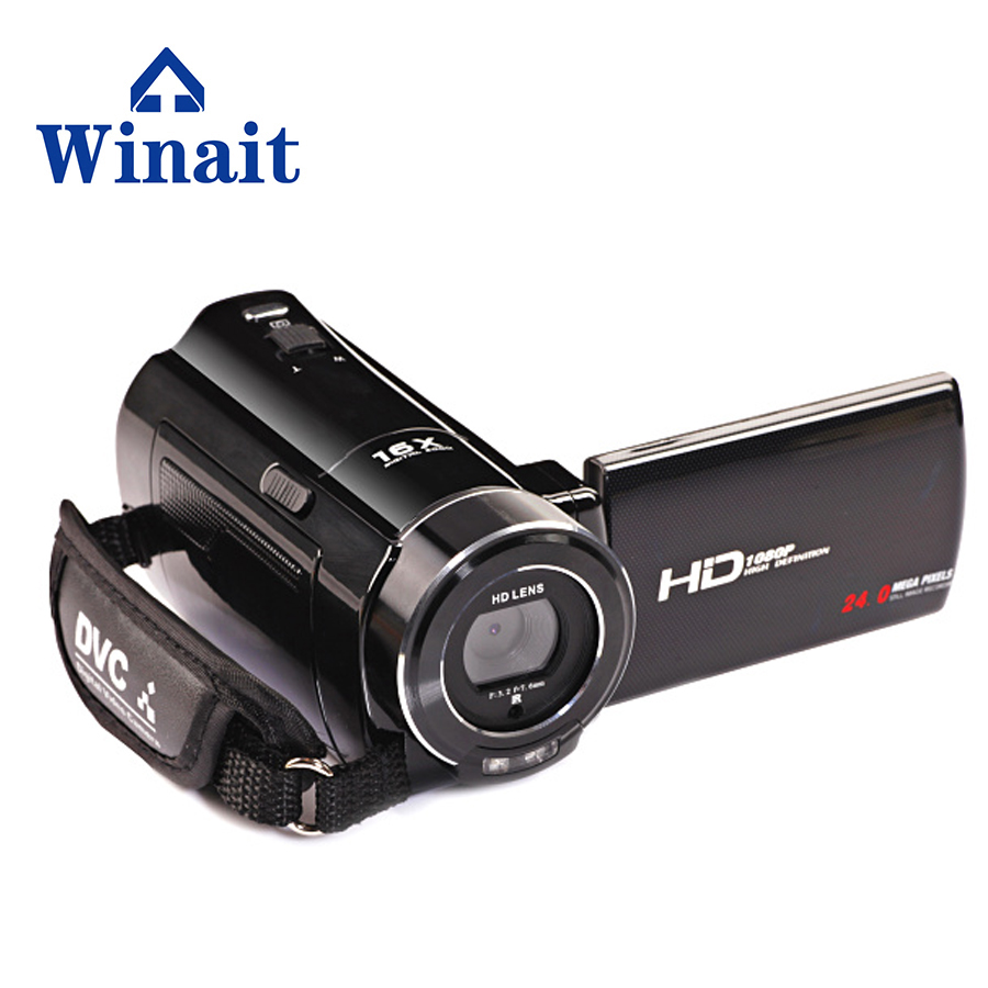 winait rechageable lithium compact digital DV camera HDV-V7 1080P full HD with 3.0 Rotatable LCD Screen free shipping winait electronic image stabilization hdv z8 digital video camera with recording function touch screen